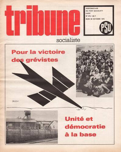 Couverture Tribune Socialiste N°470, Octobre 1970