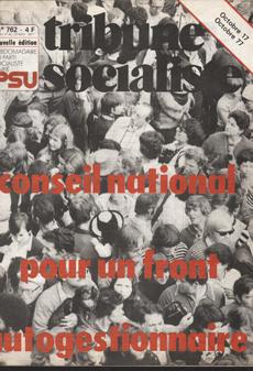Couverture TSN°762, Novembre 1977