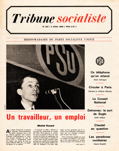Conseil national du PSU 1968