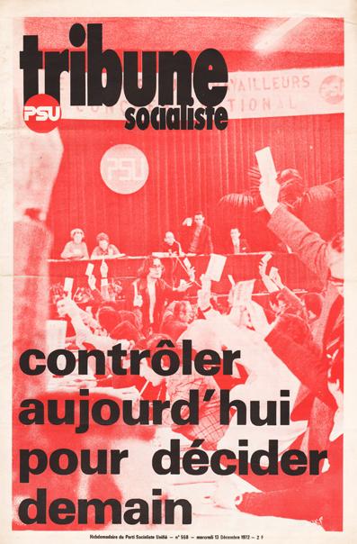 Couverture de Tribune Socialiste pour le 8ème Congrès de Toulouse, 1972